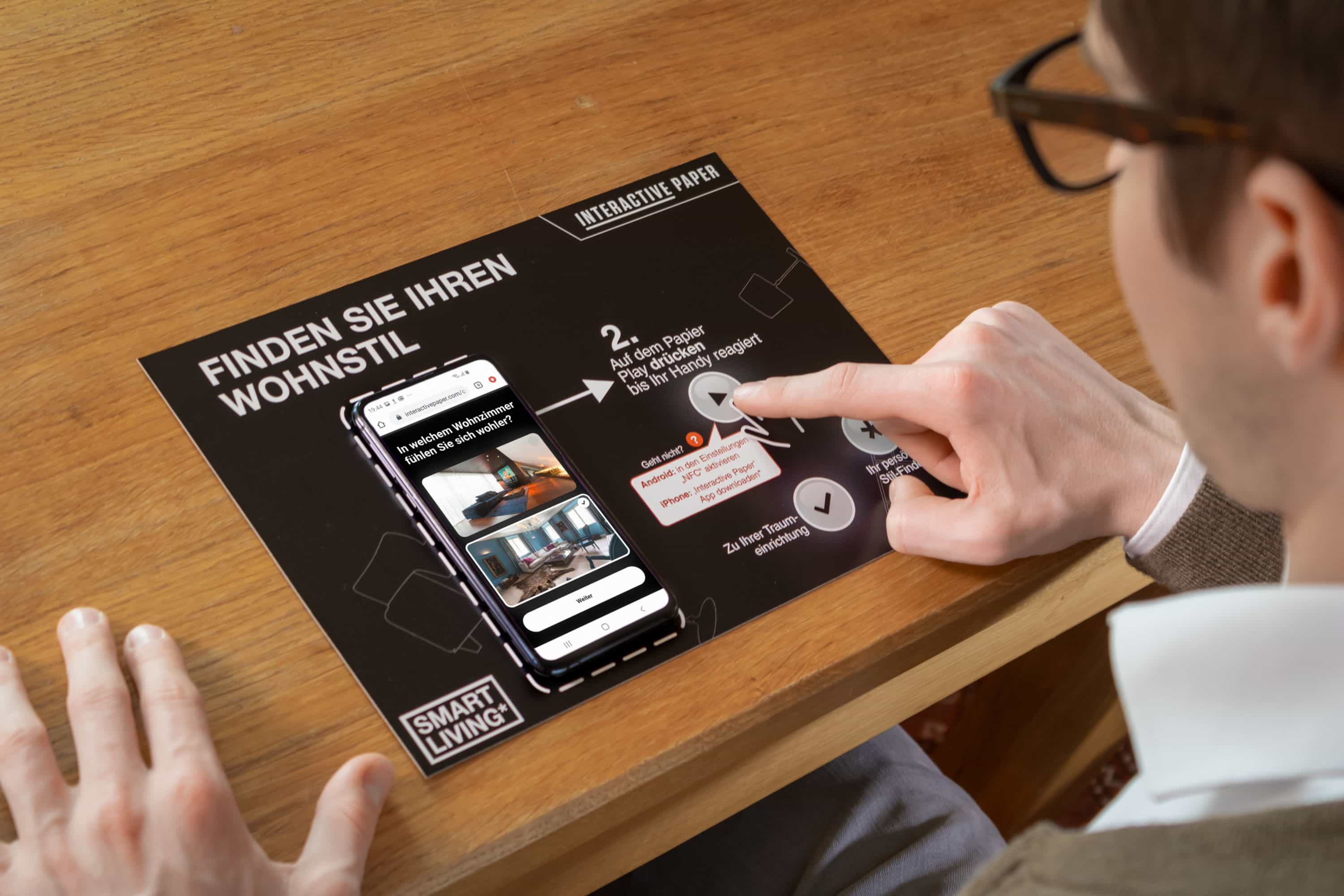 Smart Living's Interactive Paper in use